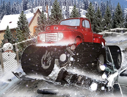 Heavy Wheels On Snow
