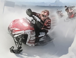 Snowmobile Winter Racing