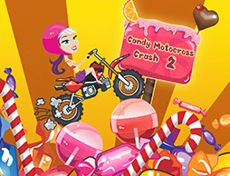 Candy Motocross Crash 2